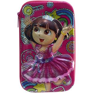 6th Dimensions Dora Magical 3D Pencil Box (Pink)
