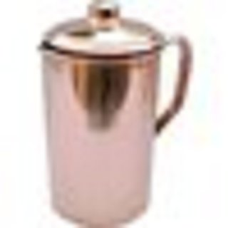 Gulzar   Handmade Pure Copper Jug Pitcher For Storage Serving Water Good Health Benefits Indian Yoga, Ayurveda 1700 ML