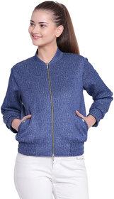 Texco Woman Blue Winter Stylish Bomber Jacket
