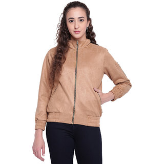 Texco Woman Beige Smart Trendy Bomber jacket