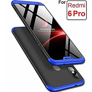 MOBIMON RedMi 6 Pro Front Back Case Cover Original Full Body 3-In-1 Slim Fit Complete 3D 360 Degree Protection