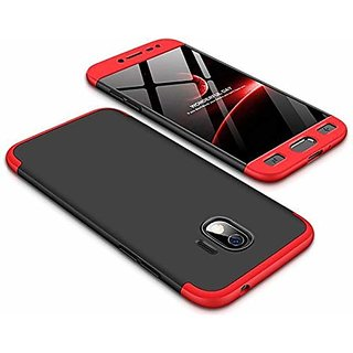 new products 74500 f51be MOBIMON Samsung J2 Core Front Back Cover Original Full Body 3-In-1 Slim Fit  Complete 3D 360 Degree Protection- Black Red