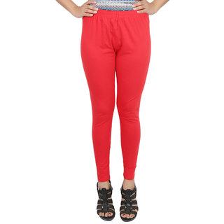 Himani Cotton Red Lycra Woman's Legging
