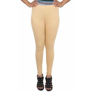 Himani Cotton Beige Lycra Woman's Legging