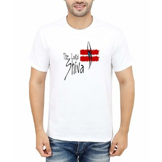 DOUBLE F ROUND NECK HALF SLEEVE WHITE COLOR THE LORD SHIVA PRINTED T-SHIRTS