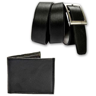 belt and wallet combo synthetic leather (Synthetic leather/Rexine)