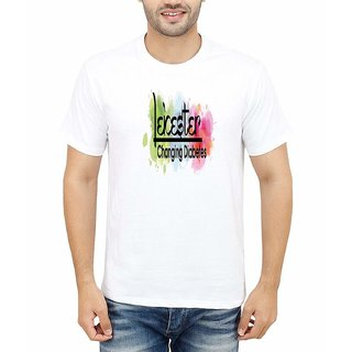 DOUBLE F ROUND NECK HALF SLEEVE WHITE COLOR CHANGING DIABELES PRINTED T-SHIRTS