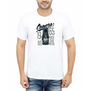 DOUBLE F ROUND NECK HALF SLEEVE WHITE COLOR CAMERA 1965 PRINTED T-SHIRTS
