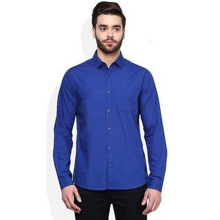29K Men's Solid Slim Fit Cotton Casual Shirt