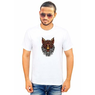 DOUBLE F ROUND NECK HALF SLEEVE WHITE COLOR WOOLF LATEST PRINTED T-SHIRTS