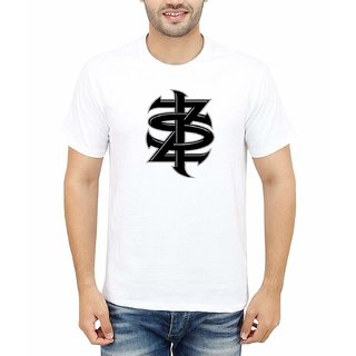 DOUBLE F ROUND NECK HALF SLEEVE WHITE COLOR ZIK COMMITTED PRINTED T-SHIRTS