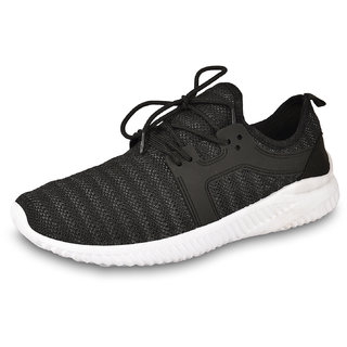DRUNKEN Mens Sports Shoes Mesh Black Running Shoes Football Shoes Cricket Shoes Basketball Shoes Badminton Shoes Walking Shoes Tennis Shoes