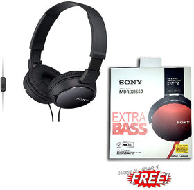 SONY MDR ZX-110AP COMBO WITH SONY MDR-XB550