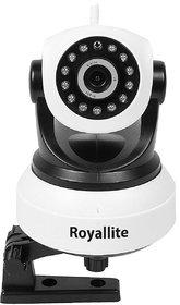 Royallite Wireless HD IP WiFi CCTV Indoor Security Camera - Grey  White