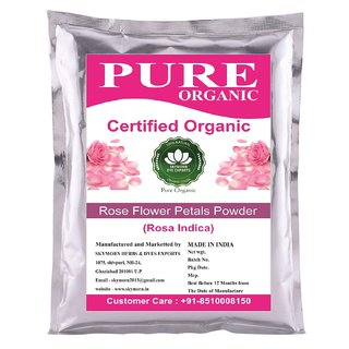 SkyMorn Pure Organic Rose Petals Powder For Glowing Face Pack 100 Grams