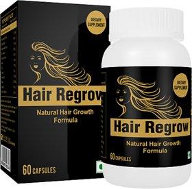 Hair Regrow Natural Solution to All Hair Problems Hair Growth Formula 60 Capsules