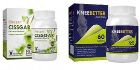 KneeBetter Joint Support and Cissgar Calcium Support Healthy Bones  Joint 60 Capsules