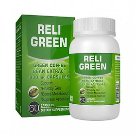 ReliGreen Green Coffee Beans Extract 800mg 60 Capsules