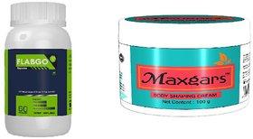 FlabGo 100 Veg Fatburner 60 Capsules and  Anticellulite Body Shaping Cream 100gm