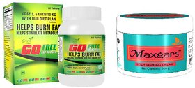 GoFree Green Tea Fat Burner 60 Capsules and  Anticellulite Body Shaping Cream 100gm