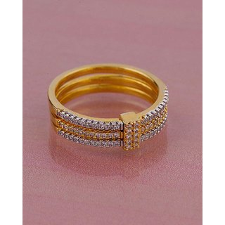 Voylla CZ Cluster Setting Band Ring For Women