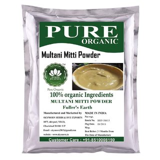 SkyMorn Pure Organic Herbal  Natural Premium Quality Multani Mitti Powder 100 gm