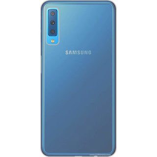 brand new 505bd 35f39 Back Cover For Samsung Galaxy A7 (2018) (Transparent)