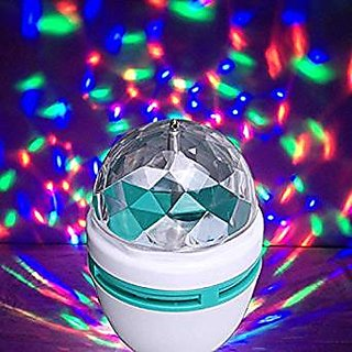 laser light colourful disco bulb rotate 360 for diwali , christmas , party .