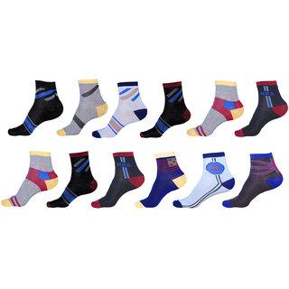 Pack of 12 Woolen Sports Ankle Socks