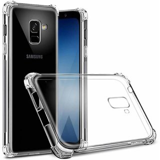 Samsung Galaxy J6 - Anti-Knock Design Shock Absorbent Bumper Corners Soft Silicone Transparent Back Cover