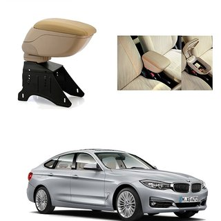 KunjZone Premium Quality Car Arm Rest Console Beige for BMW 3 Series GT
