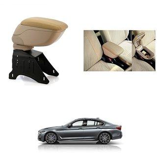 KunjZone Premium Quality Car Arm Rest Console Beige for BMW 5 Series GT