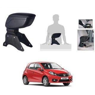 KunjZone Premium Quality Car Arm Rest Console Black for Honda Brio