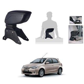 KunjZone Premium Quality Car Arm Rest Console Black for Toyota Etios Liva