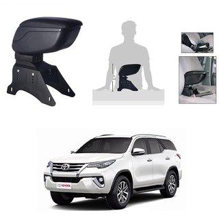 KunjZone Premium Quality Car Arm Rest Console Black for Toyota Fortuner