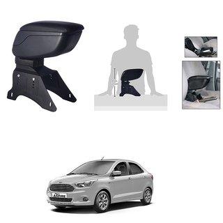 KunjZone Premium Quality Car Arm Rest Console Black for Ford Figo Aspire
