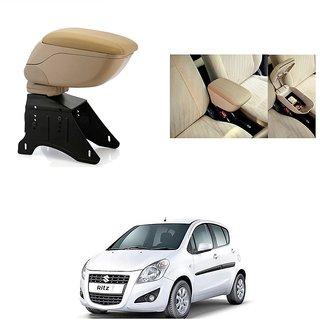 KunjZone Premium Quality Car Arm Rest Console Beige for Maruti Suzuki Ritz