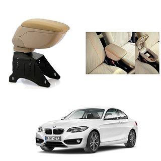 KunjZone Premium Quality Car Arm Rest Console Beige for BMW 2 Series