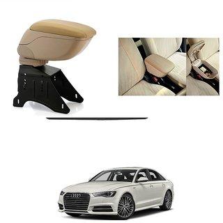 KunjZone Premium Quality Car Arm Rest Console Beige for Audi A6