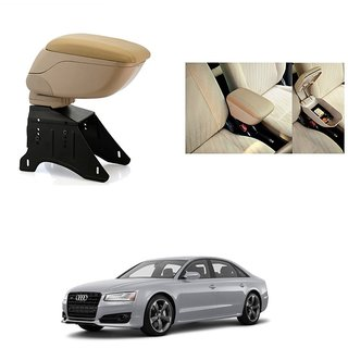 KunjZone Premium Quality Car Arm Rest Console Beige for Audi A8