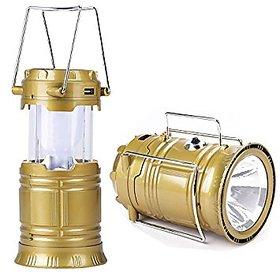 gupta LED Solar Emergency Light Lantern + USB Mobile Charging+Torch Point, 2 Power Source Solar, Lithium Battery, Travel