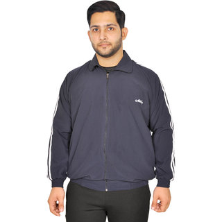 Meddy Sports Track Jacket for Men in Blue - Solid Pattern, Collar Jacket, Full Sleeves, with Chain