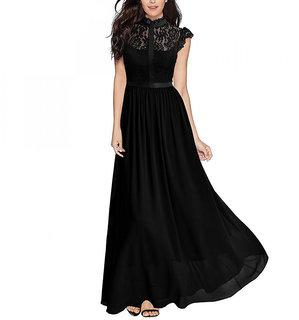 Aashish Garments - Black Net Style Women Maxi Dress
