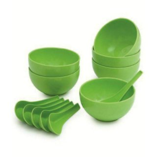 Soup Bowl Set of 12pcs (6 Bowls  6 Soup spoons)