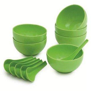 Brand New Soup Bowl Set of 12pcs (6pcs Bowls 6pcs Soup spoons)