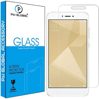 Tempered Glass Screen Protector For Redmi 4 Transparent (Case Friendly)