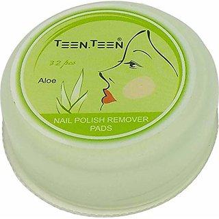 Teen.Teen Nails Polish Remover Pads 32pcs (Aloe)
