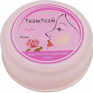 Teen.Teen Nails Polish Remover Pads 32pcs (Rose)