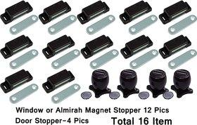 Magnet Stopper 16 Pics For Door,Almirah ,Windows etc