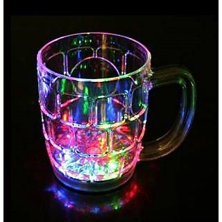 Satya Plastic LED Light Mug 1 Peice disco light